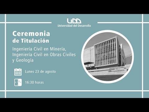 Ceremonia de Titulación | I. Civil en Minería, I. Civil en Obras Civiles y Geología | Sede Santiago