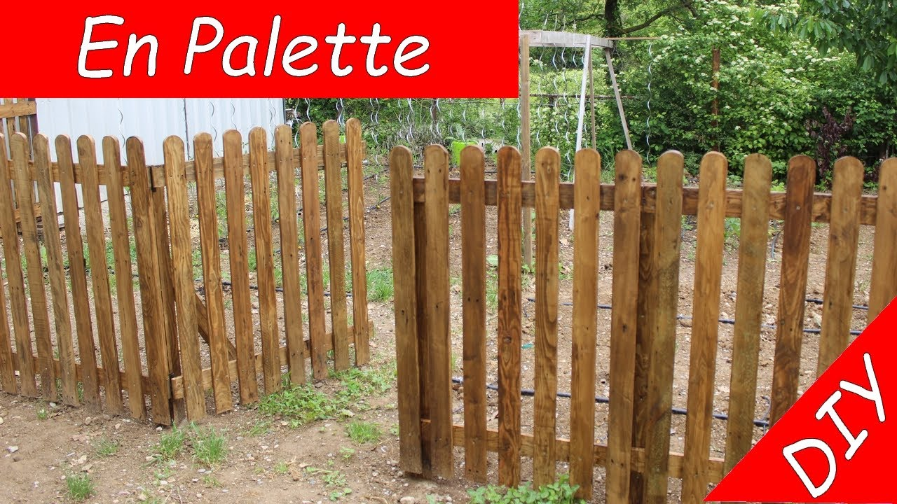 creation d une barriere cloture en bois de palette tres simple et efficace gratuit diy