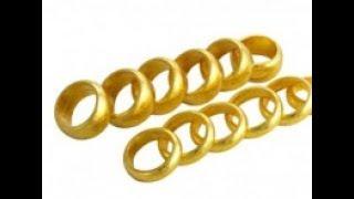 Quy trình làm nhãn trơn (khâu) vàng 24k. tập chí GOLD=The process of making 24k  labels gold