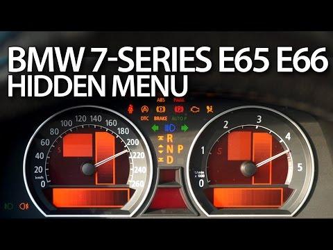 How to enter hidden menu in BMW E65 (7-series service test mode instrument cluster E66 E67 E68)