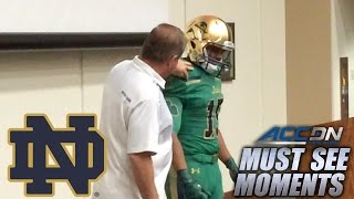 Repeat youtube video Notre Dame's Kelly Surprises Walk-On With Scholarship | ACC Must See Moment
