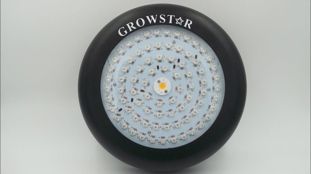 Testing The Growstar 300 watt UFO Next Generation LED Grow Light