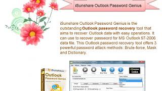 Outlook password recovery is easy with iSunshare password tool