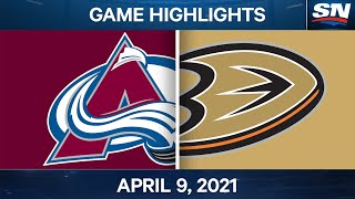 NHL Game Highlights | Avalanche vs. Ducks - Apr. 09, 2021