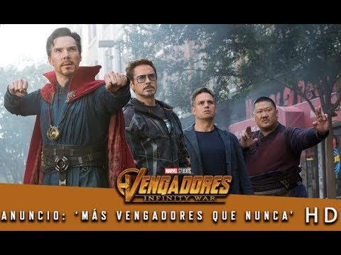 vengadores: infinity war de marvel   anuncio: 'más vengadores que