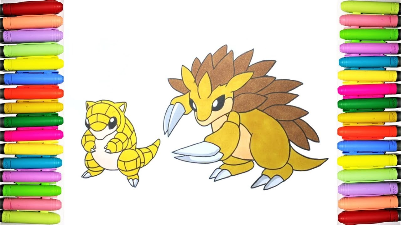 sandslash pokemon coloring pages - photo#33