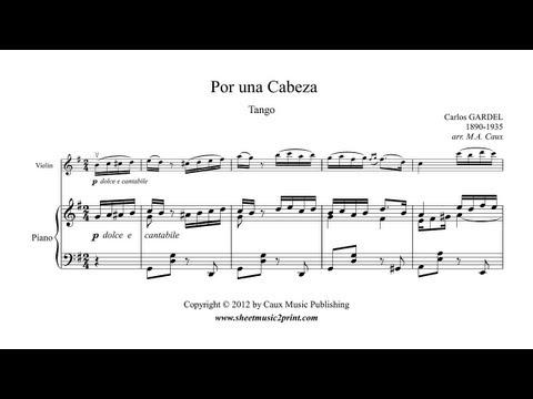Por una cabeza - Tango by Carlos Gardel - Violin