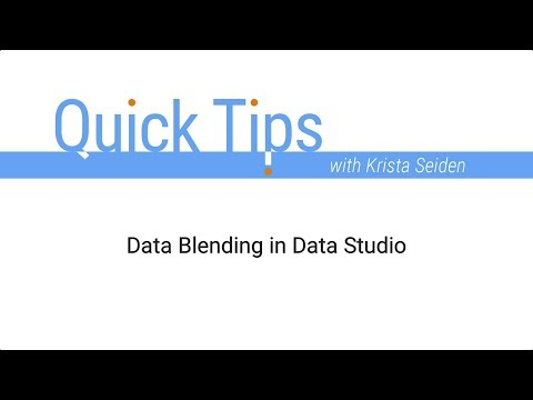 Data Blending in Data Studio