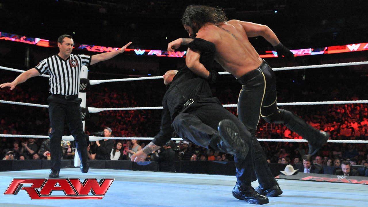 J&J Security vs. Seth Rollins – 2-on-1 Handicap Match: Raw, June 8, 2015