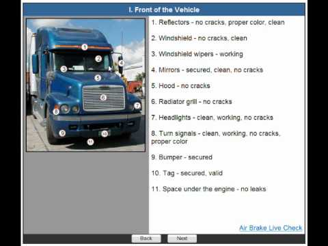 Cdl Pre Trip Inspection Animated Video Wmv