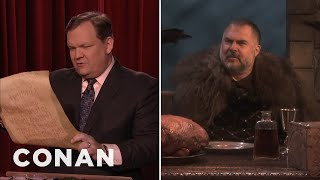 """Game Of Thrones"" Shocker: Andy Inherits The Iron Throne  - CONAN on TBS"