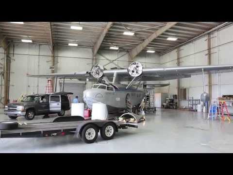Howard Hughes Sikorsky S-43 Disassembly and Move to Fantasy of Flight - Part 1