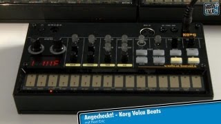 Test - Korg Volca Beats analoge Drummachine - deutsch