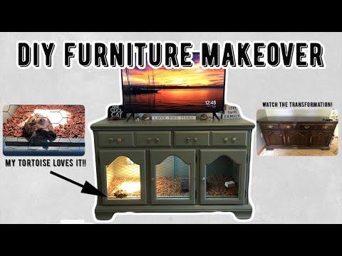 DIY Reptile Enclosure Using Old Furniture
