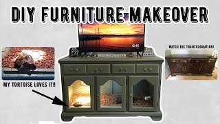 DIY Reptile Enclosure Using Old Furniture