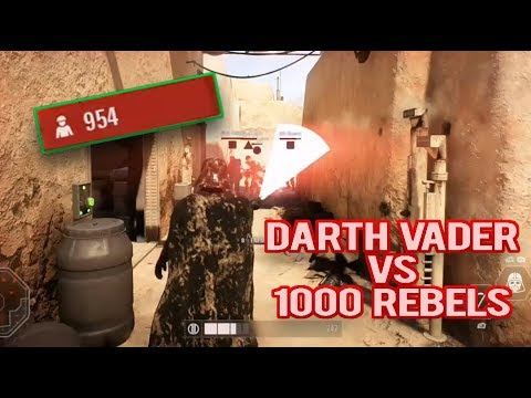 SWBF2 - DARTH VADER VS 1000 REBELS - ARCADE 1 LIFE ATTEMPT (300+KILLS)
