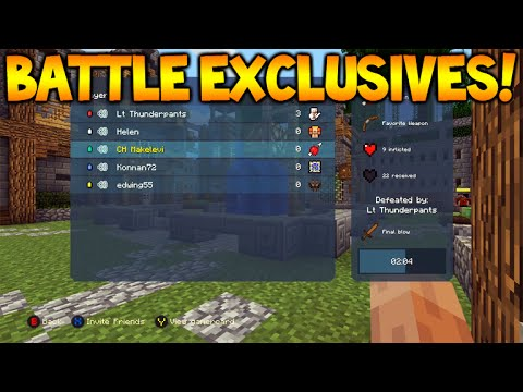 Minecraft Console - NEW BATTLE MODE - Exclusive Features, ALL MAPS + Game Options (Battle Mode)