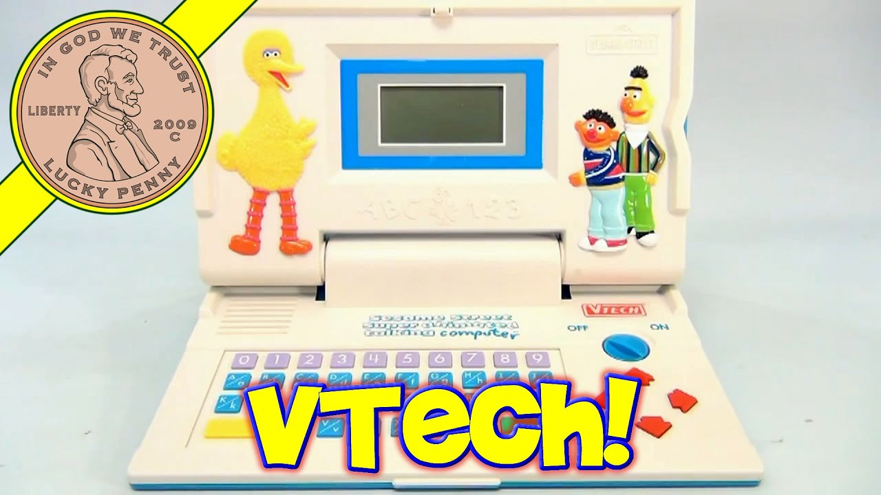 vtech sesame street super animated talking computer laptop toy 1992