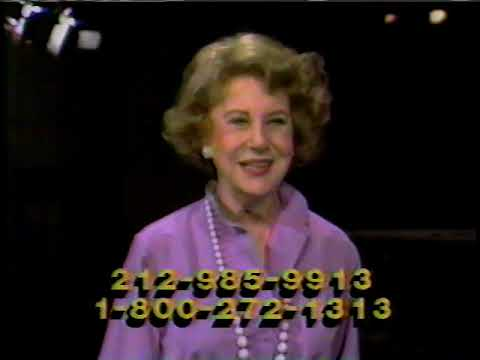 Public Television Fund Drive With Arlene Frances - 1980's