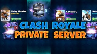 Baixar Clash Royale Private Server Gameplay with Mega Knight, Cannon Cart, Flying Machine, Skeleton Barrel