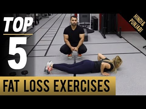 Top 5 At Home FAT LOSS EXERCISES! (Hindi / Punjabi)