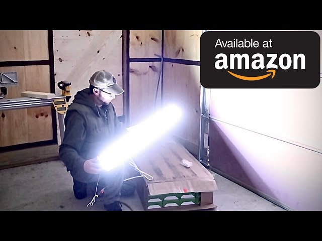 Installing the CHEAPEST 5 STAR AMAZON LED Shop lights in OUR WorkShop