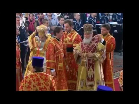 Patriarchs of Jerusalem and Moscow consecrate Cathedral (inspired by Hagia Sophia)