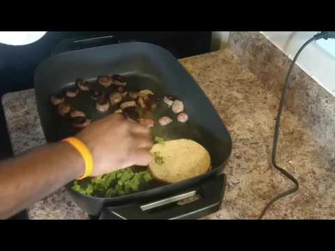 Oster Electric Skillet Unboxing and Spicy Italian Sausage and Broccoli Dogs!