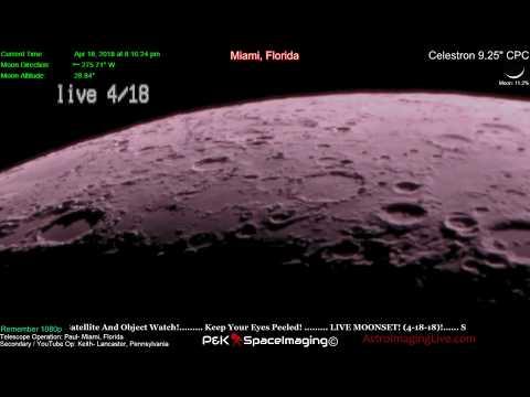 LIVE TELESCOPE! THE MOON! April 18, 2018