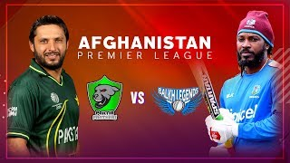 APLT20 2018 M7: Balkh Legends v Paktia Panthers Live Stream, Afghanistan Premier League T20 - APLT20