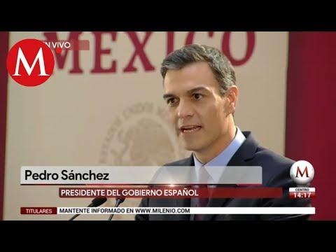 Palabras del presidente Pedro Sánchez en su reunión con AMLO