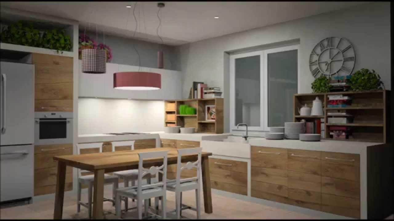 Cucina Angolare Rovere Grigio | Aran Cucine La Giusa Mobili