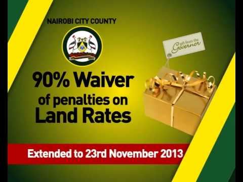 Nairobi County Land Rates ANNOUNCEMENT