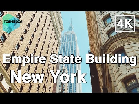 Walking Around Empire State Building【4K】 New York City, New York, United States