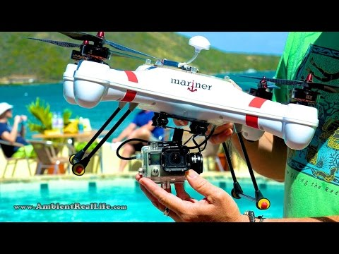 WORLD'S FIRST!  'Mariner' Drone with WATERPROOF GIMBAL, FPV & filming in 4K from BVI, CARIBBEAN!
