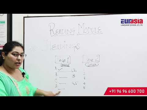 IELTS Reading Module (Heading) - Eurasia Language School (A Sub Unit Of SWICS)