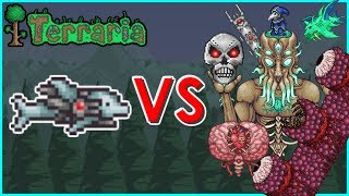 Terraria - S.D.M.G. vs All Bosses...