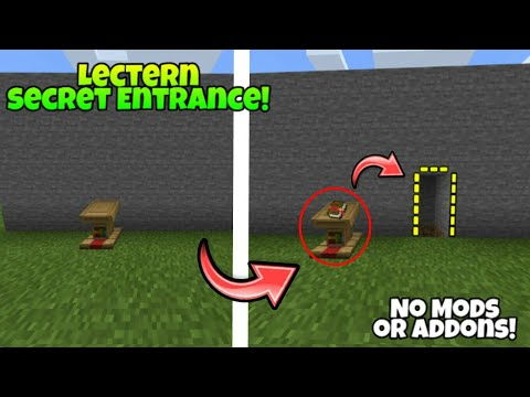 ✔MCPE HOW TO MAKE A LECTERN SECRET ENTRANCE !!! [NO MODS OR ADDONS]