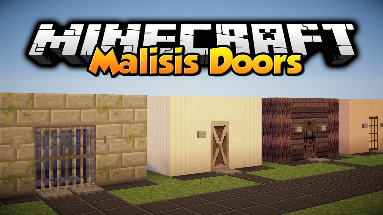 Minecraft Mod Showcase: Malisis Doors Mod 1.7.10 - YouTube