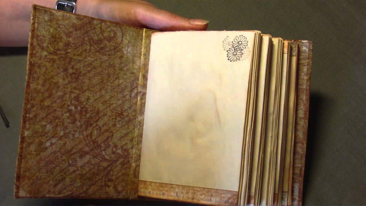 Old Book Laptop Case Diy ~ Shabby vintage notebook youtube