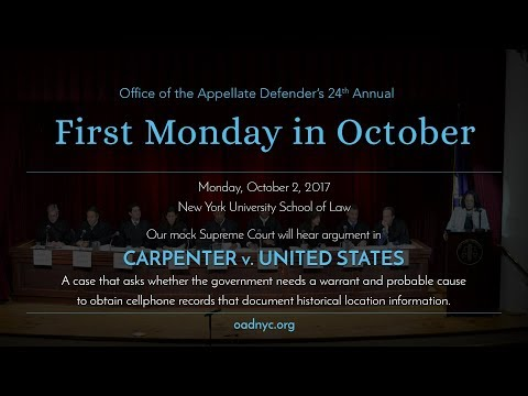 First Monday in October 2017 - Carpenter v. United States