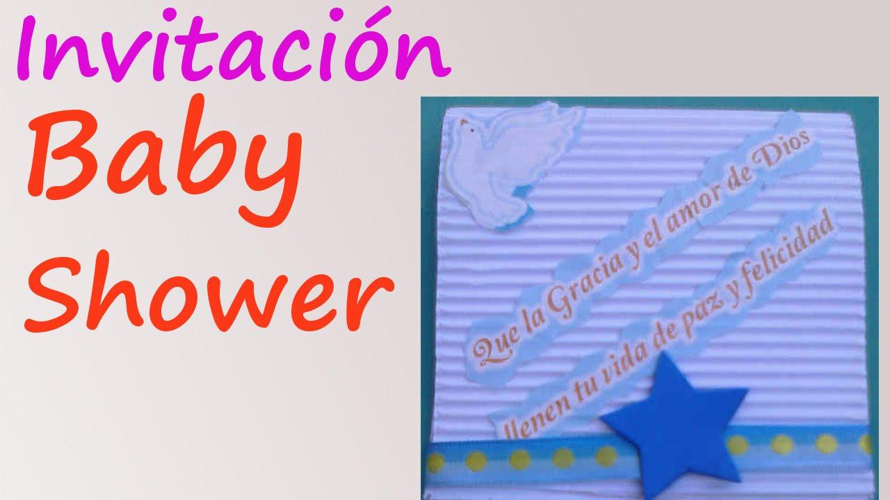 Invitaciones Para Baby Shower Manualidades De Lina
