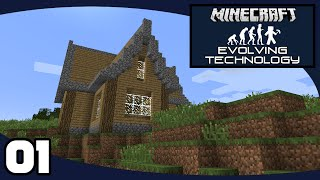 Evolving Technology - Ep. 1: Starter House | Evolving Technology Minecraft Modpack