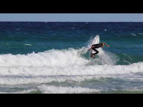 Chris Michalak rides ASI new Carbon Basalt Epoxy Technology in knee high onshore surf.