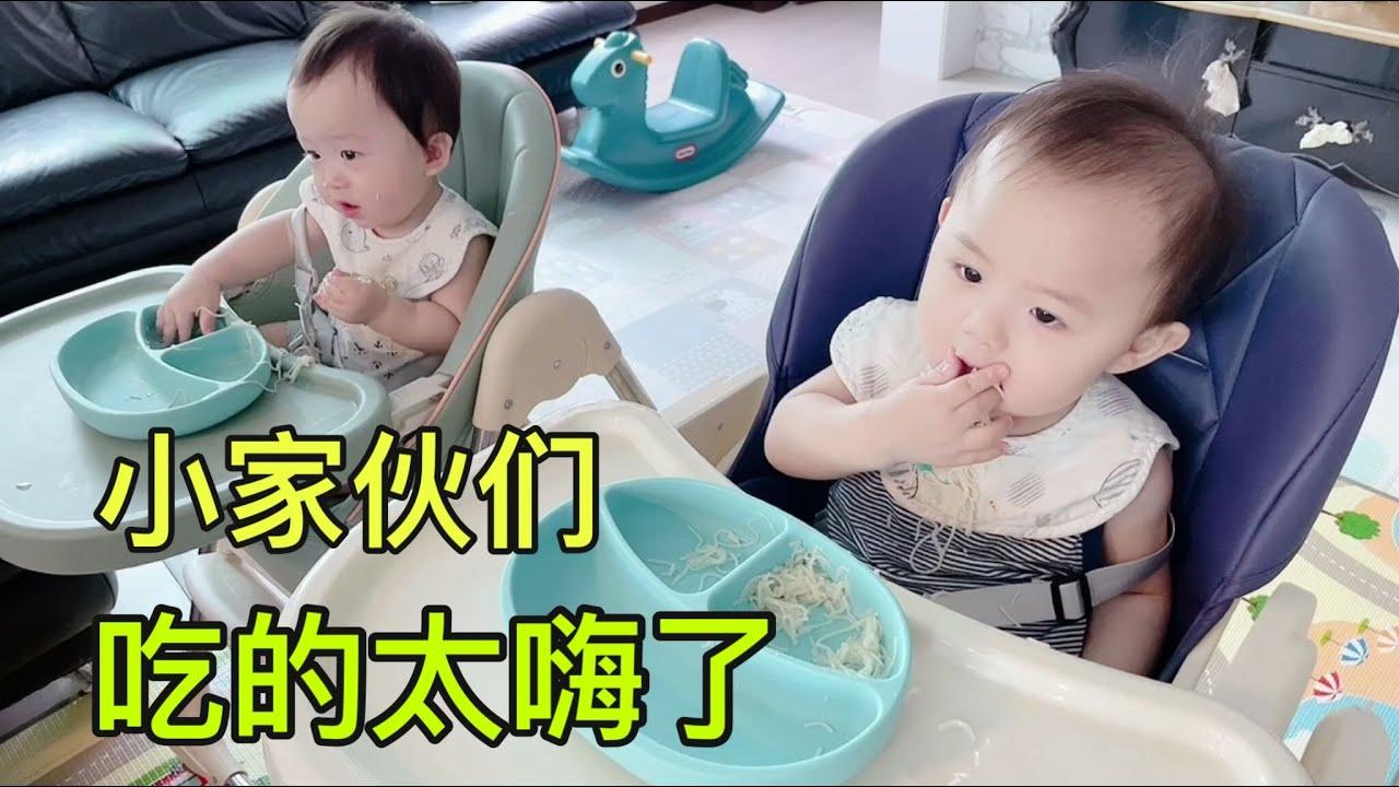 韓國婆婆做小面,這倆孫子吃的一身都是,太給他們奶奶面子了!【韓國媳婦和小雪】
