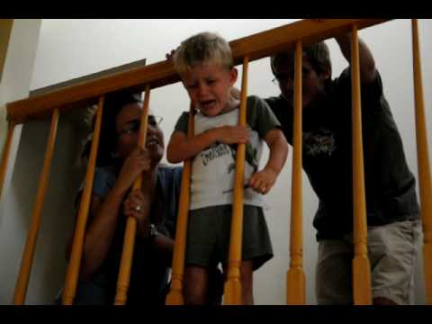 3 Year Old Gets Head Stuck In Stair Railing Youtube