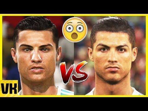 FIFA 18 vs PES 18 Data Pack 3 Faces (Ronaldo, Messi, Griezmann + More)