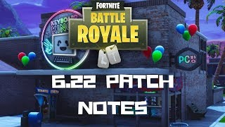 v6.22 PATCH NOTES MAP CHANGES - LEAKED 'PCB CHALLENGES' FORTNITE - France S6 (en)