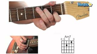 how to play an a minor seven am7 chord on guitar
