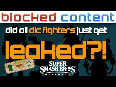 Did ALL DLC FIGHTERS Just LEAK for Super Smash Bros. Ultimate?! - LEAK SPEAK! thumbnail